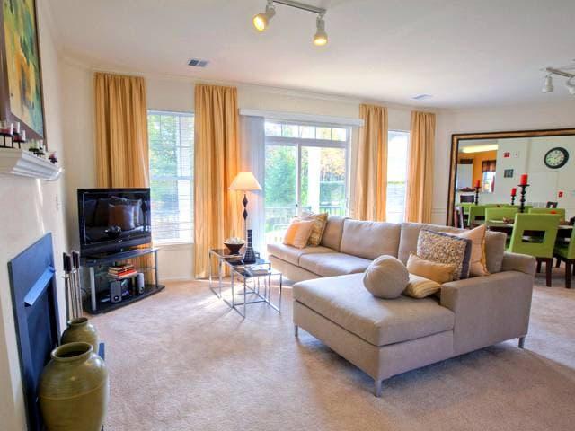 The Point at Pine Ridge : The Point at Pine Ridge Model Living Room