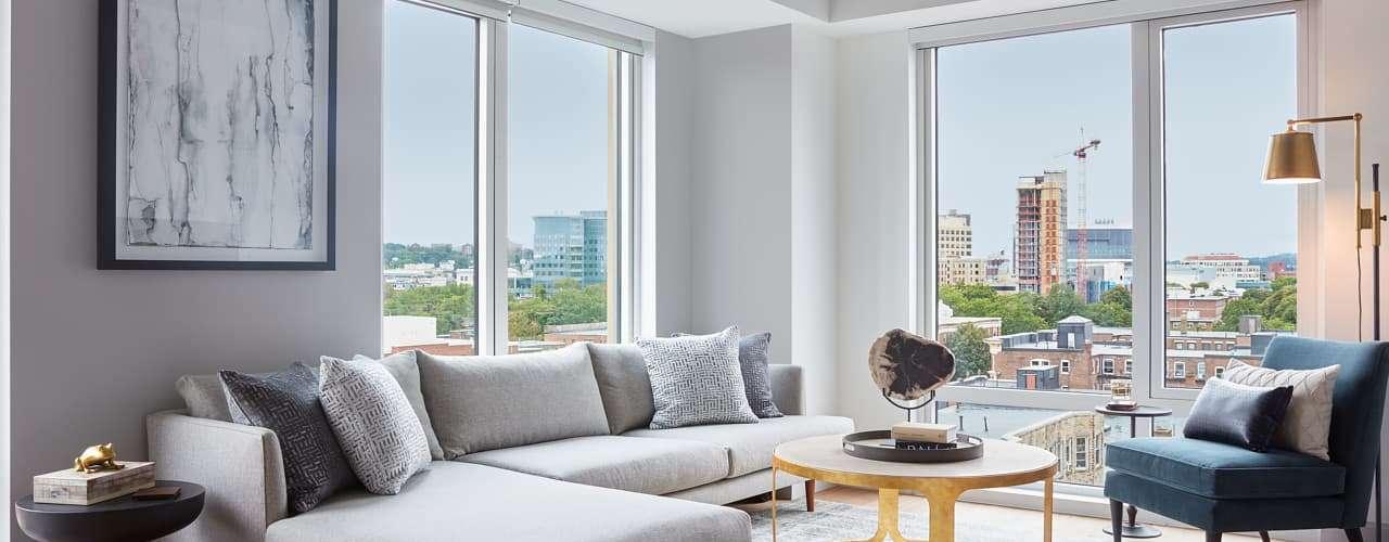 The Harlo : Model Living Room