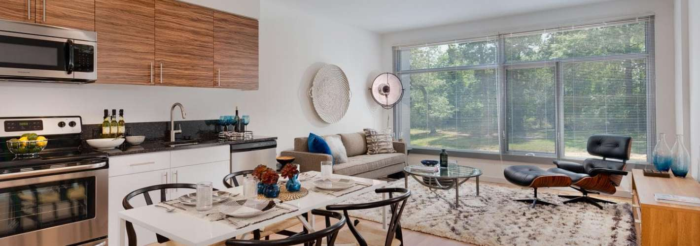 The Modern at Art Place : Open-concept layouts let in all that natural light
