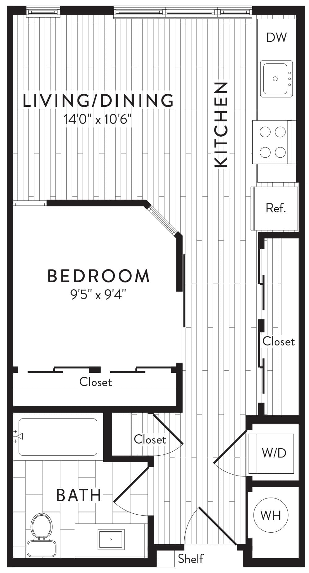 View Anthem House Apartment Floor Plans Studios 1 2 3 Bedrooms Bozzuto