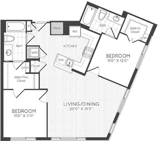 View Elevation At Washington Gateway Apartment Floor Plans Studios