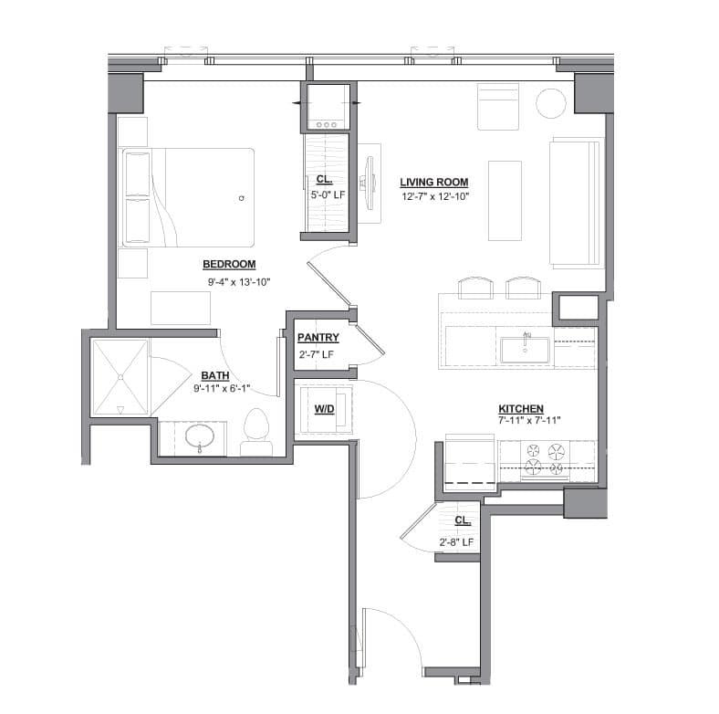 Sinclair Apartments: View The Sinclair Apartment Floor Plans