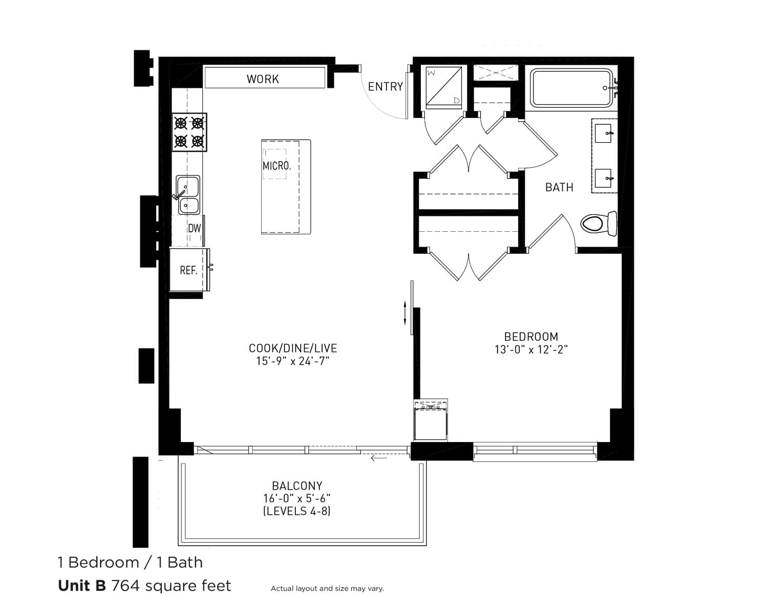 Plan 1 24 Ft X 24 Ft: Chicago Apartments For Rent