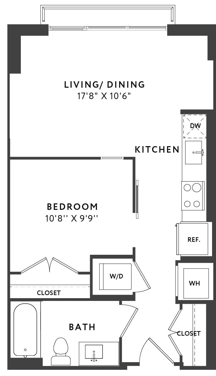 View The Apollo Apartment Floor Plans Studios 1 2 3 Bedrooms Bozzuto