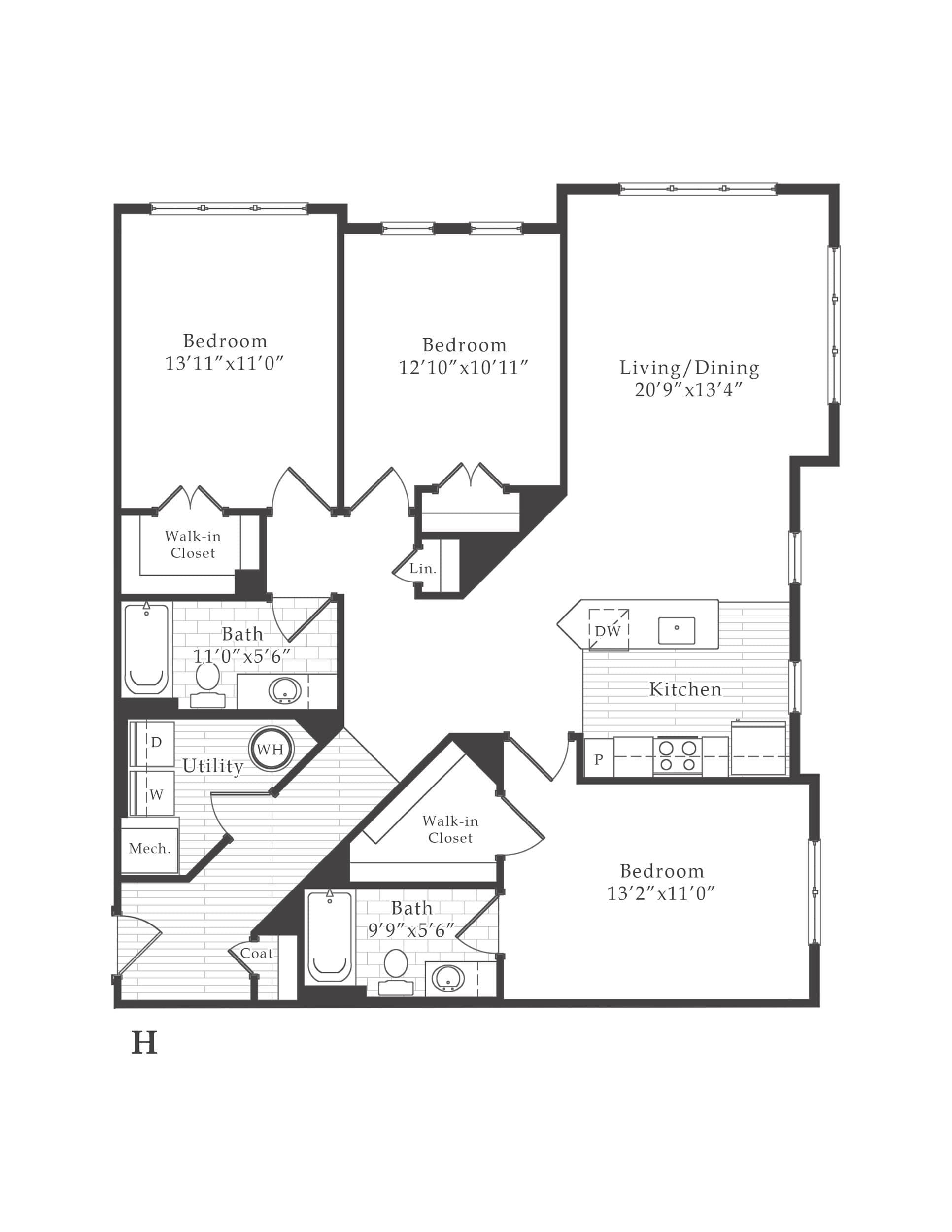 View The Vine Apartment Floor Plans - Studios, 1, 2, 3+ ...