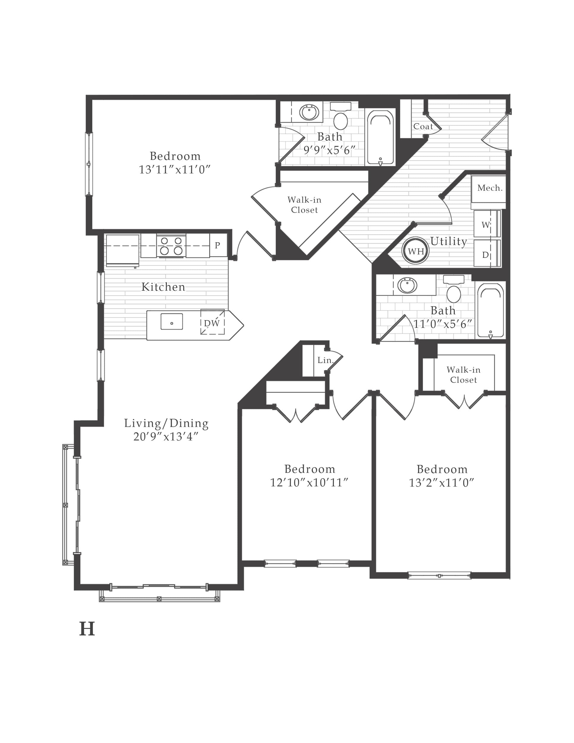 View The Vine Apartment Floor Plans - Studios, 1, 2, 3+ ...