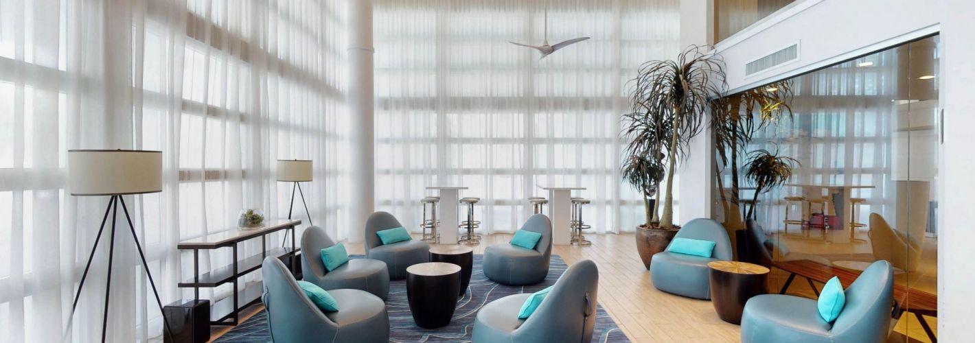 Milagro Coral Gables : Milagro Coral Gables resident lounge
