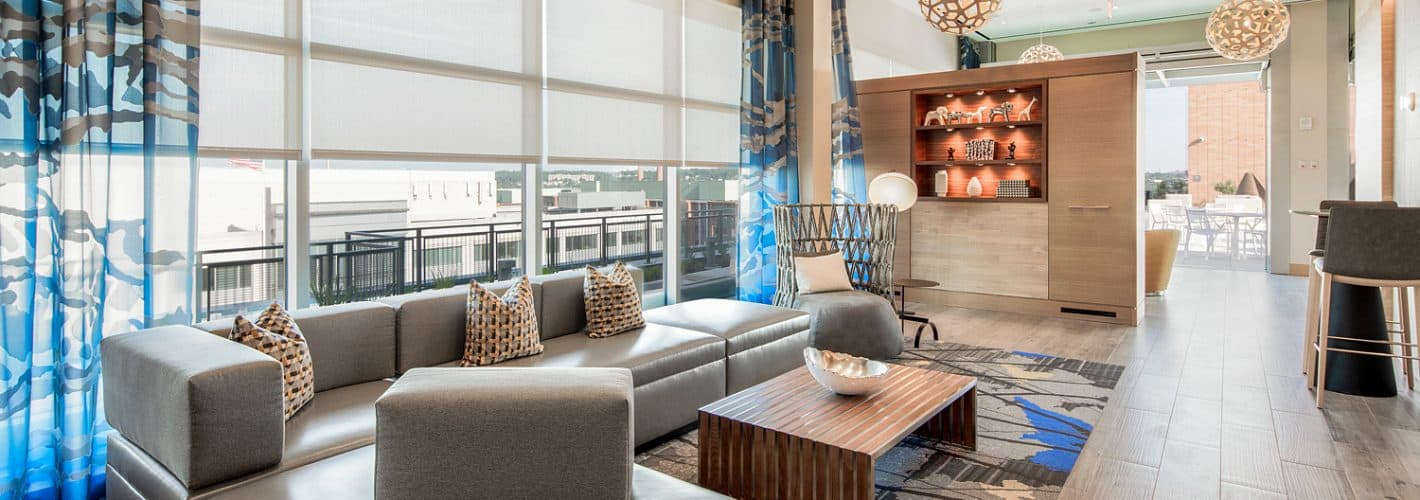 Insignia on M : Plenty of spaces to lounge and relax with friends on our rooftop.