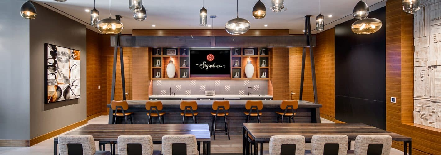 Signature at Reston Town Center : Full-sized demonstraton kitchen and private dining room available for any occasion.