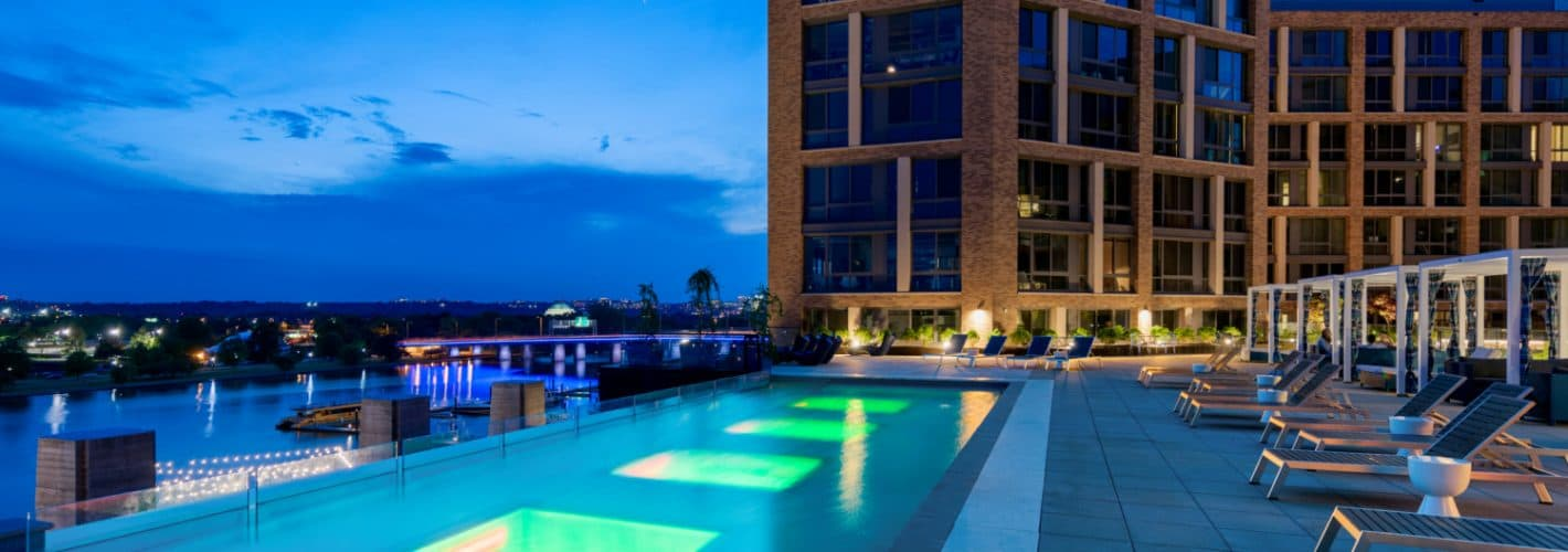 The Channel : Our pool is beautiful at every hour