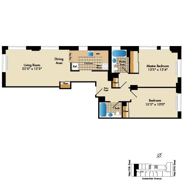 2 Bedroom C3 1078 Sq Ft