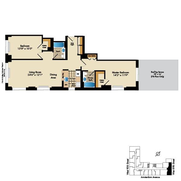 2 Bedroom S P M 1153 Sq Ft
