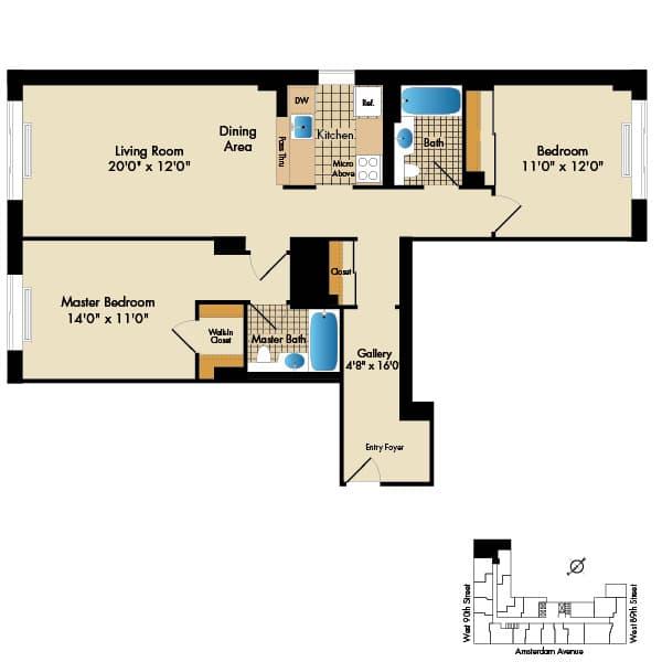 2 Bedroom E2 1092 Sq Ft