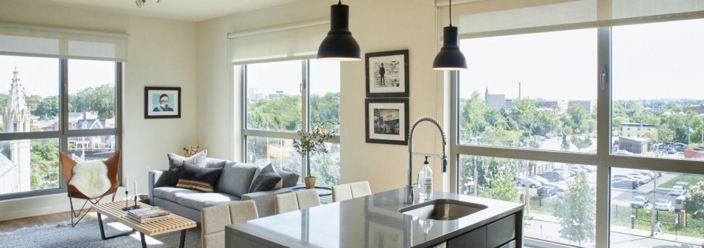 The Audubon New Haven : Living Room