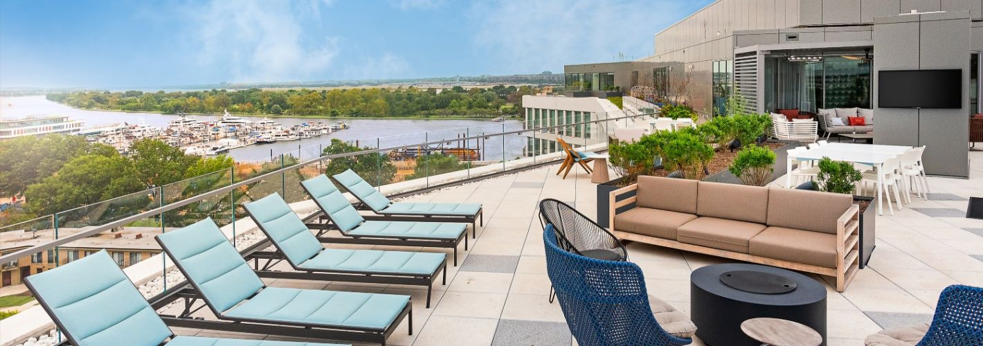 The Banks : Stunning views of the water and DC from atop the Penthouse Terrace.