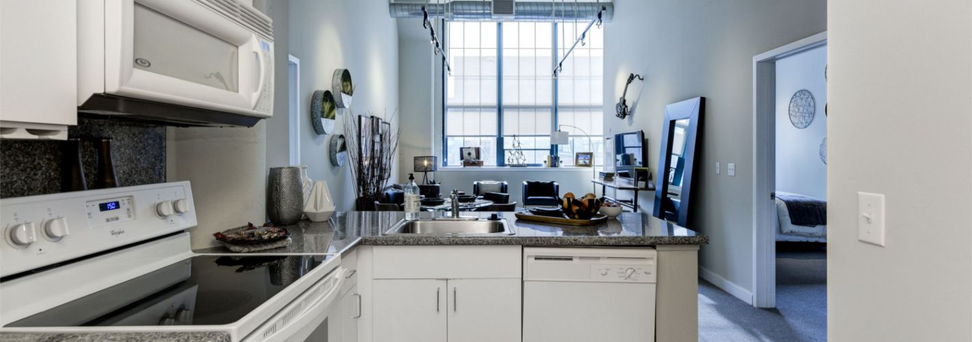 The Victor : Model Kitchen & Living Room