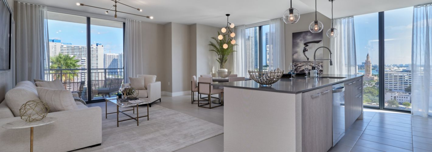 Park-Line Miami : Our residences offer airy open layouts