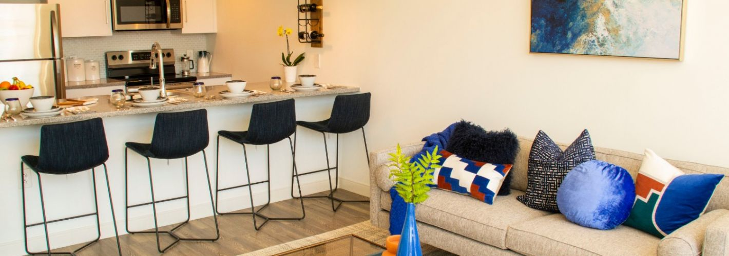 Crane Chinatown : Kitchen Living Room