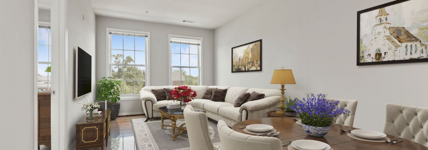 Clayborne Apartments : Living and Dining spaces