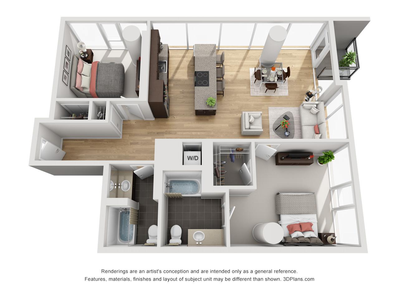 View Env Chicago Apartment Floor Plans Studios 1 2 3 Bedrooms Bozzuto