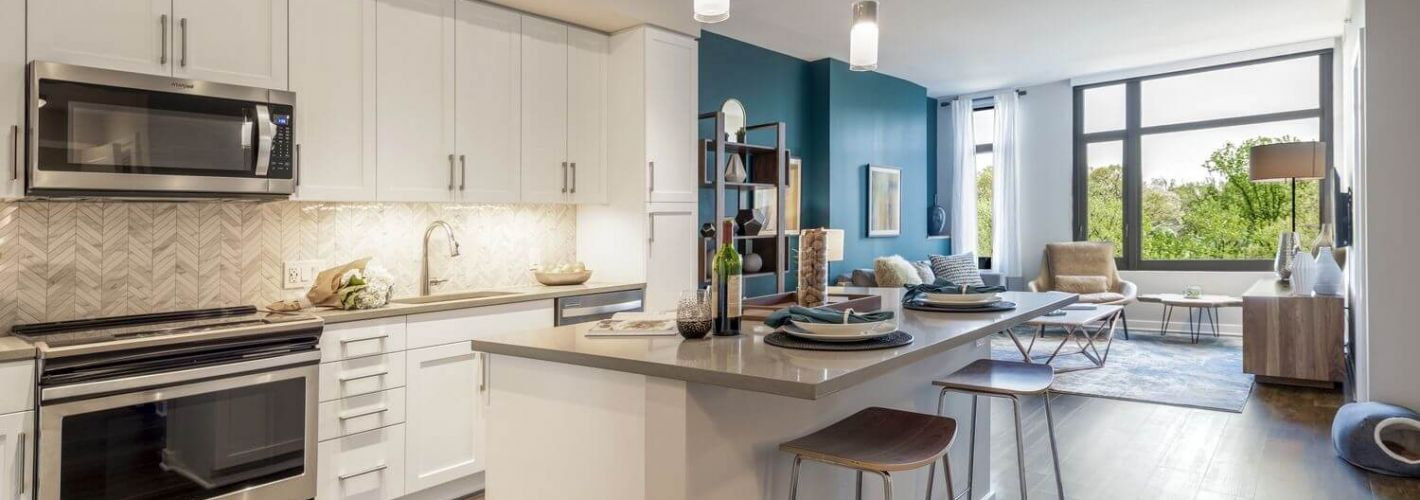 The Lindley : Kitchen Living