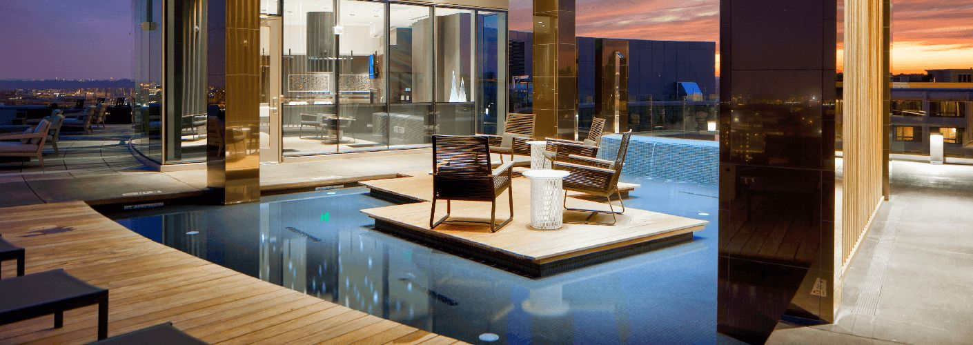 The Hepburn : Spend the evening rejuvenating at our sensational reflecting pool and cascading custom waterfall.