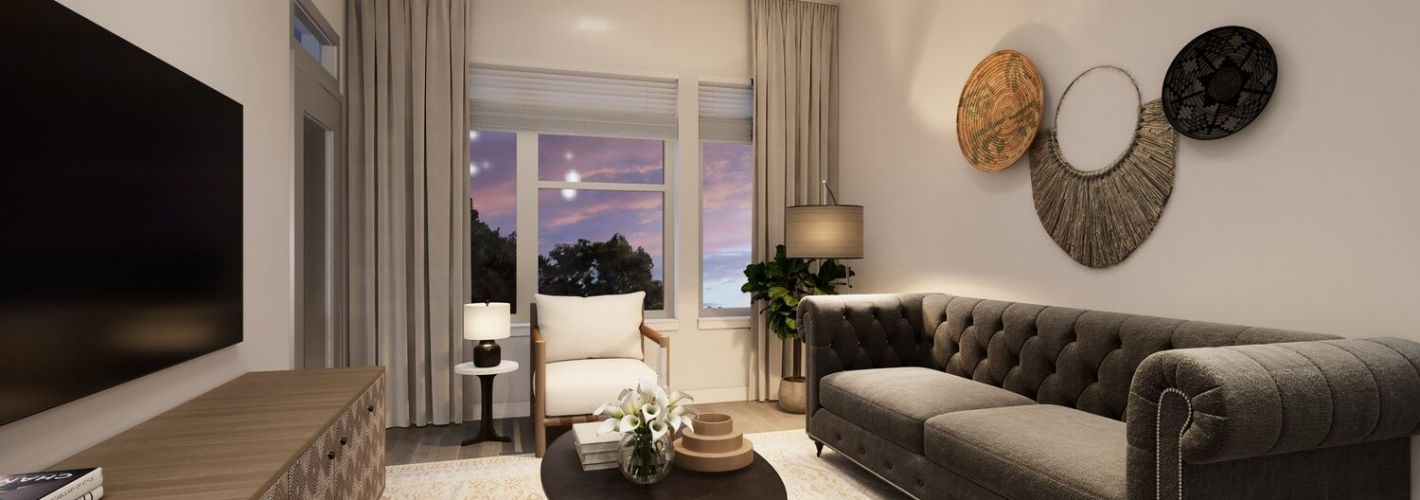 Faraday Park : Clean lines and a neutral palette make coming home feel like a breath of fresh air.
