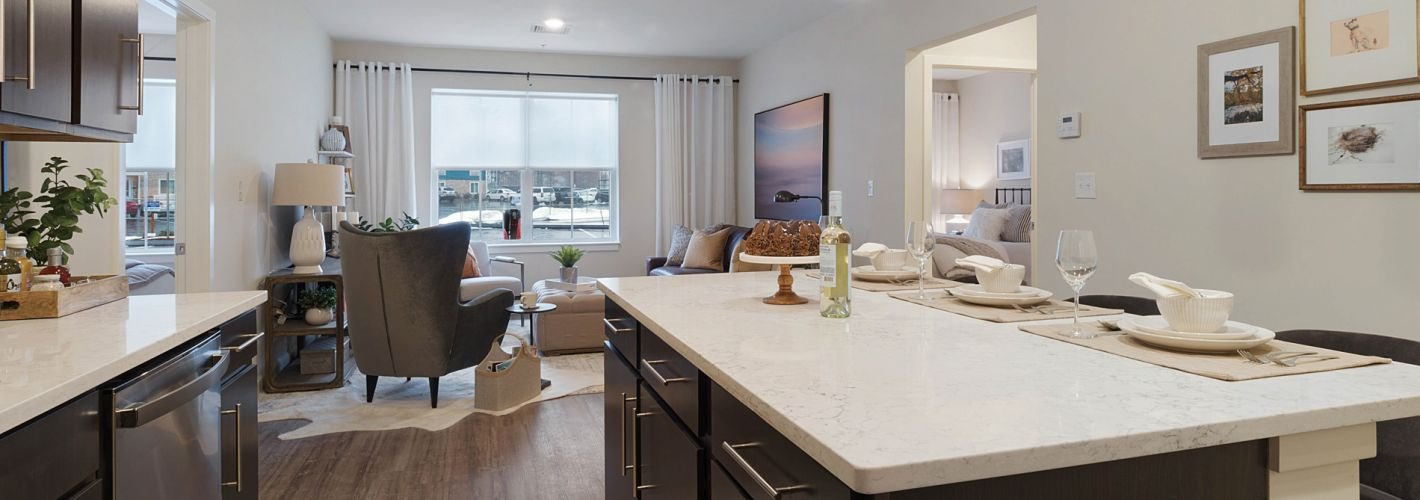 The Residences at Executive Park : Model Kitchen Angled