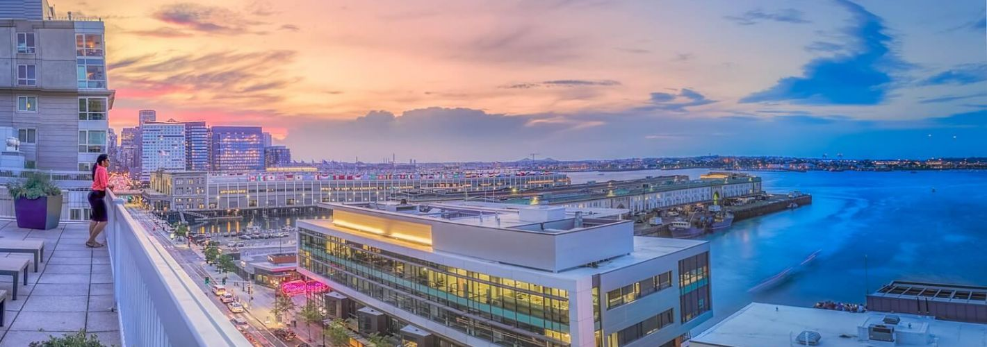 Park Lane Seaport : Sunset view from Rooftop